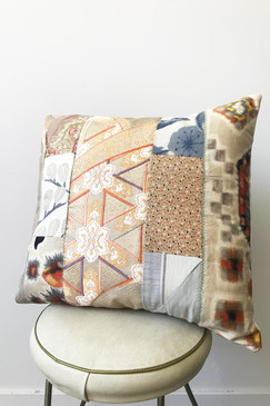 Milly S. Patchwork Cushion - Orange Bursts II (medium)