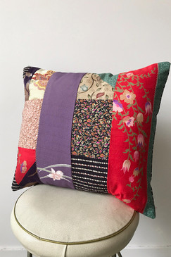 Milly S. Patchwork Cushion - Bright and breezy (small)
