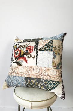 Milly S. Patchwork Cushion - Cooler Breeze (medium)