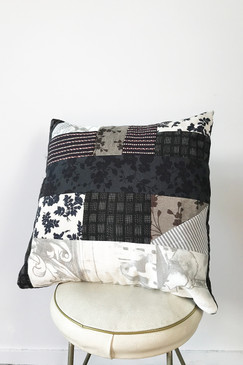 Milly S. Patchwork Cushion - Sky & Canopy (small)