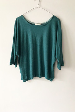 Milly S. Dolman Sleeve Knit Top (sea green)
