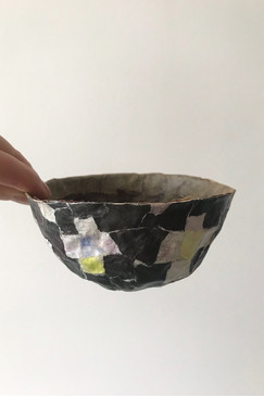Papier-mâché bowl (Crosses)