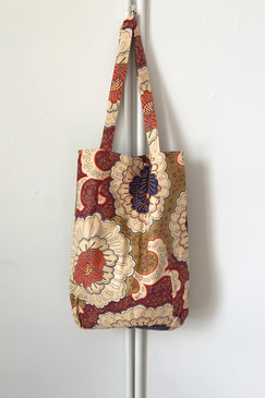 Milly S. Tote (Japanese vintage textiles - blooms)