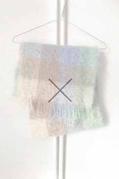Andrew Stewart Mohair Scarf (more blue)