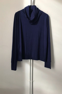 Milly S. Cowl Neck Top (ultramarine)