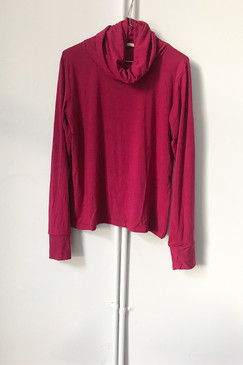 Milly S. Cowl Neck Top (cranberry)