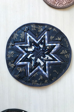 Around About Trivet (large - blues)