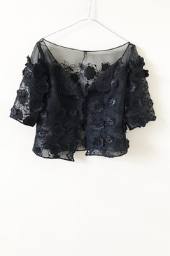 Organza Crop Jacket (M)