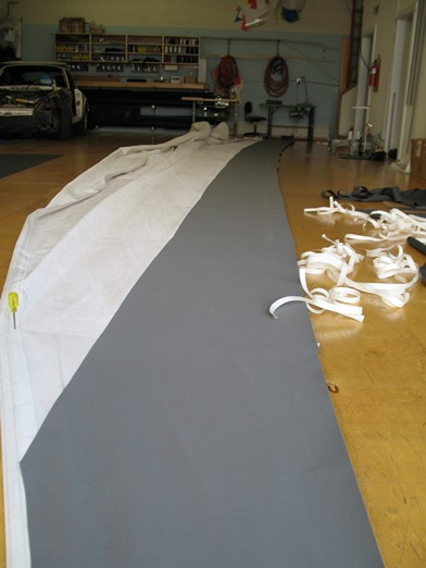 uv cover being taped on