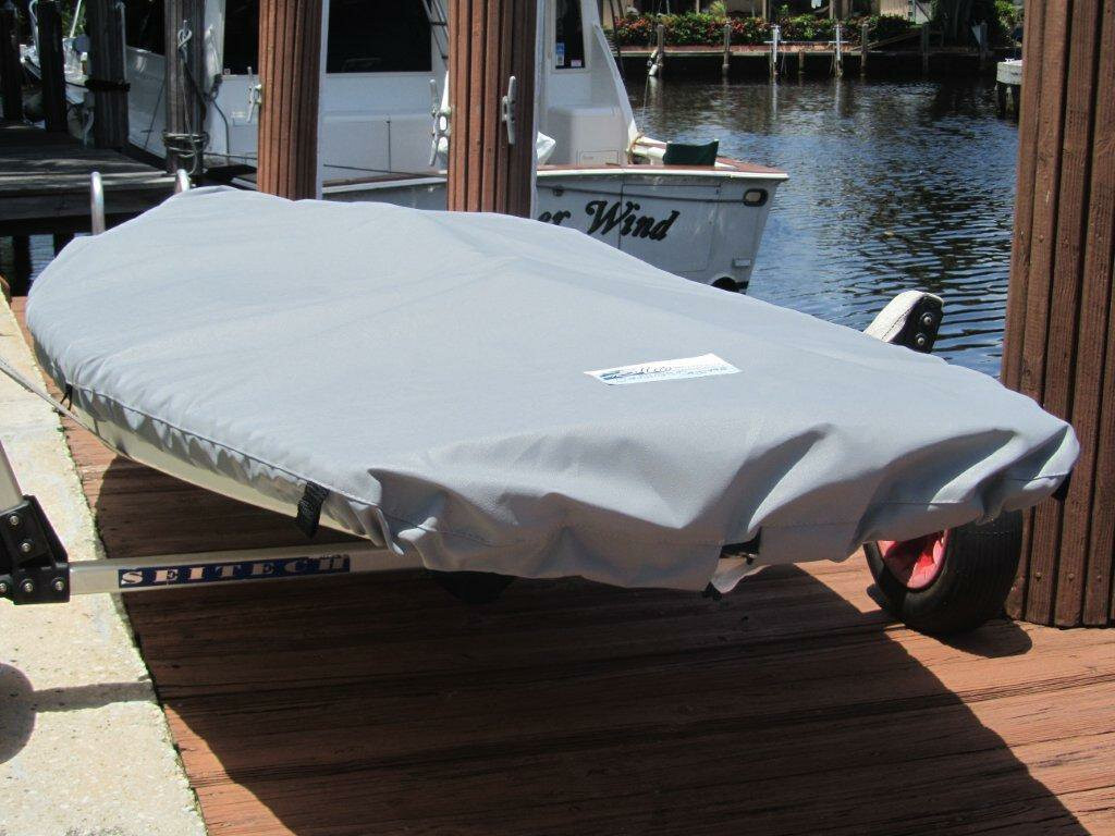 AMF Minifish Deck Cover shown in Polyester Charcoal Gray