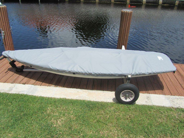 Minifish Sailboat Top Deck Cover made in America by skilled artisans at SLO Sail and Canvas.