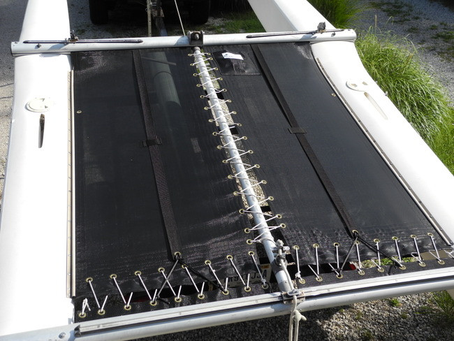 Prindle 15 With Ports Catamaran Trampoline with Double Pockets Black Mesh