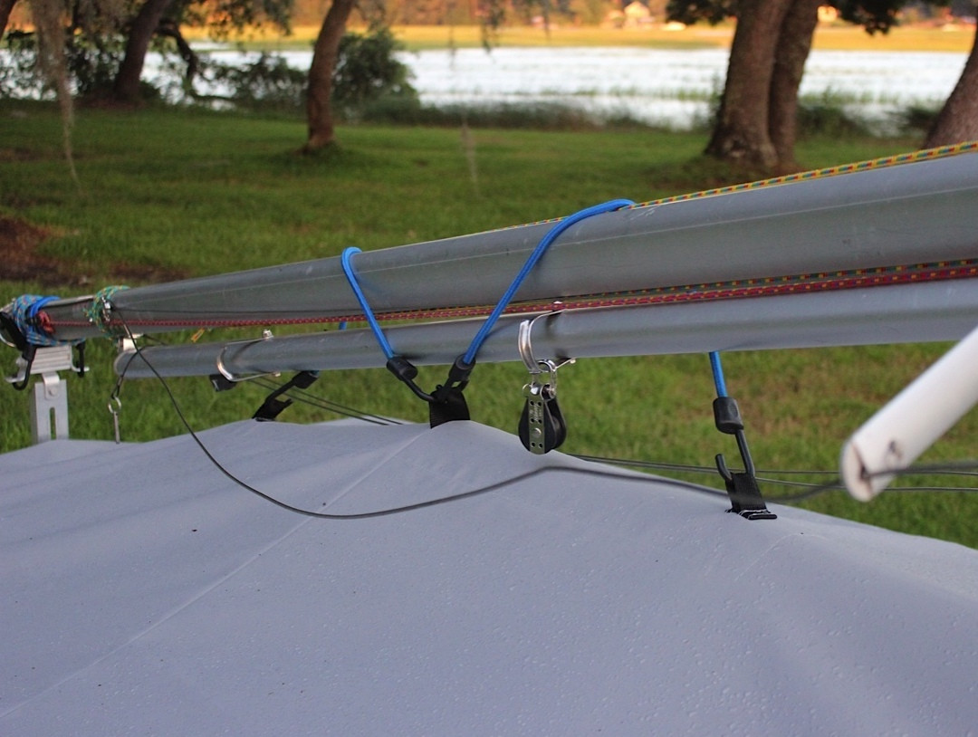 "Web Loops allow you to ""tent"" your cover up to prevent pooling of water."