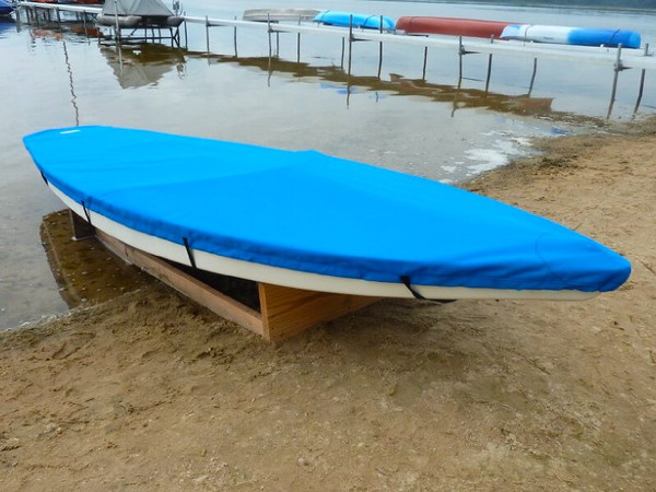 Sunfish Top Cover shown in Polyester Royal Blue