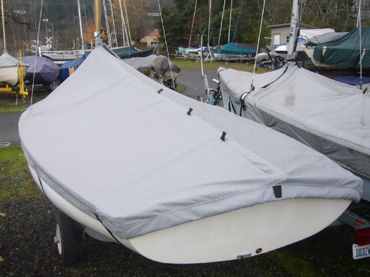 Lido 14 Sailboat Mast Up Peaked Cover by SLO Sail and Canvas