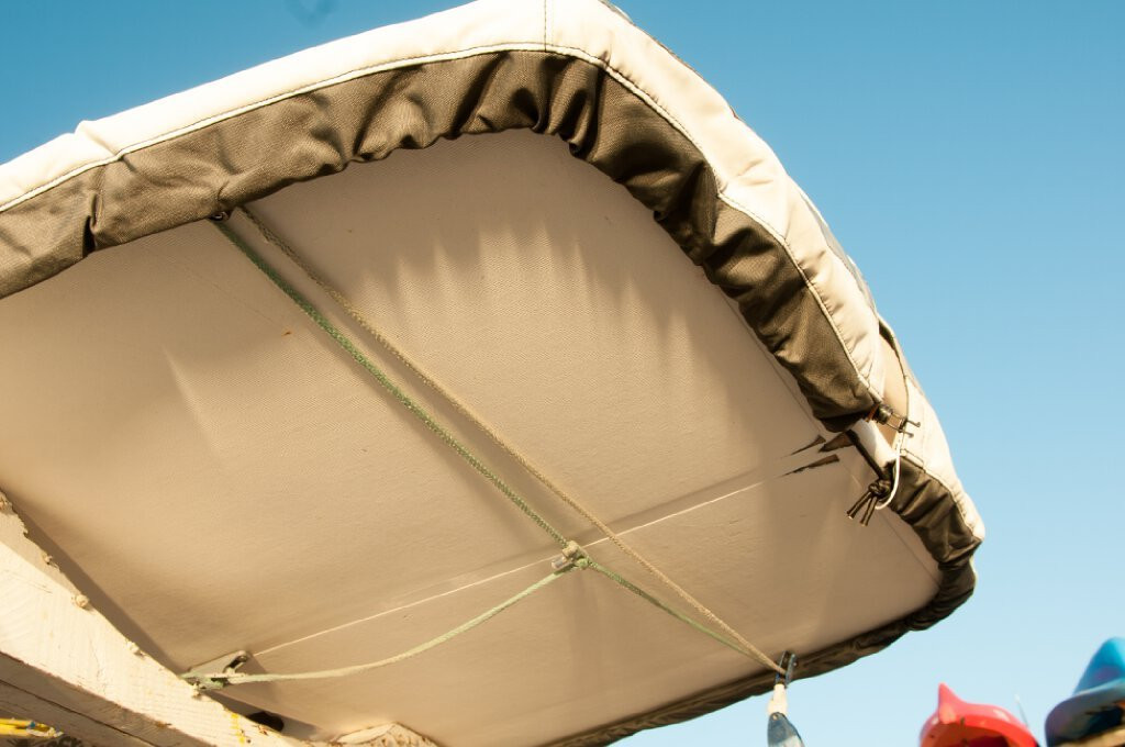 Laser Hull Cover by SLO Sail and Canvas. Choose either SPLIT or SOLID transom style. SPLIT style shown.
