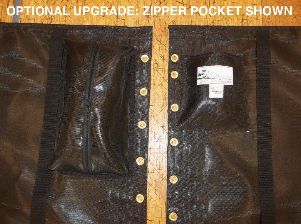 Optional Upgrade: Zipper Pocket.