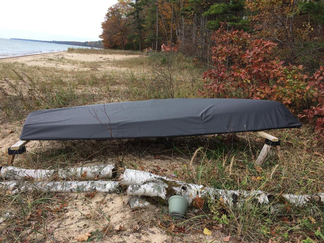 Force 5 sailboat Hull Cover by SLO Sail and Canvas