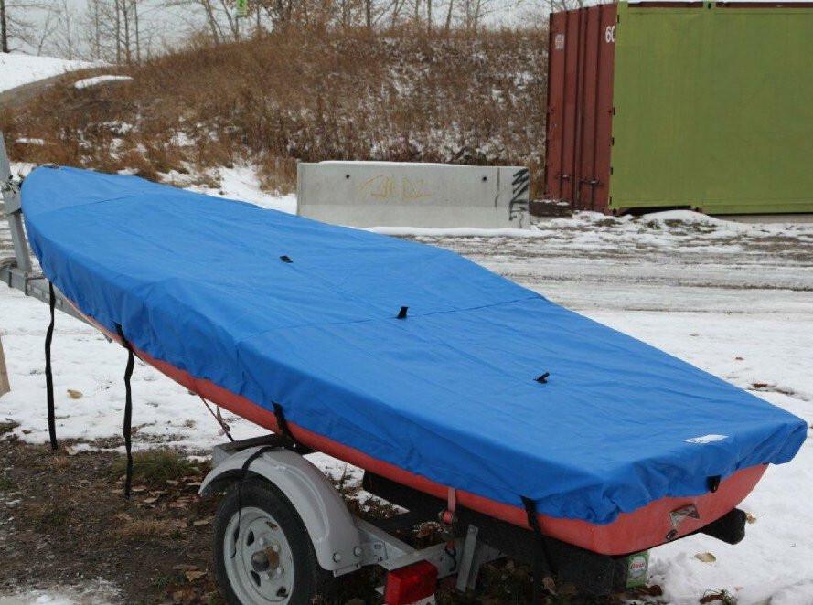 Kolibri 2-12 Top Cover shown in Sunbrella Pacific Blue