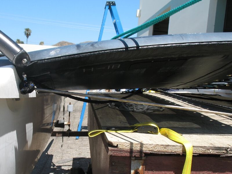 Trampoline to fit a Hobie® 16 catamaran made in America by skilled artisans at SLO Sail and Canvas.