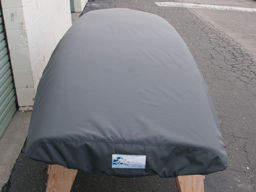 Cover shown in Top Gun Seagull Gray. Available in 3 fabrics and many color choices.