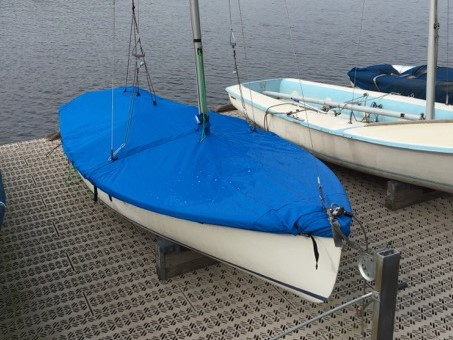 Europe sailboat Mast Up Flat Mooring Cover by SLO Sail and Canvas