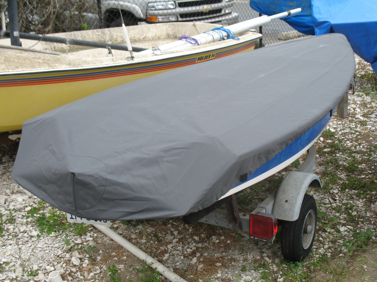 Expedition 12.5 sailboat Top Cover by SLO Sail and Canvas