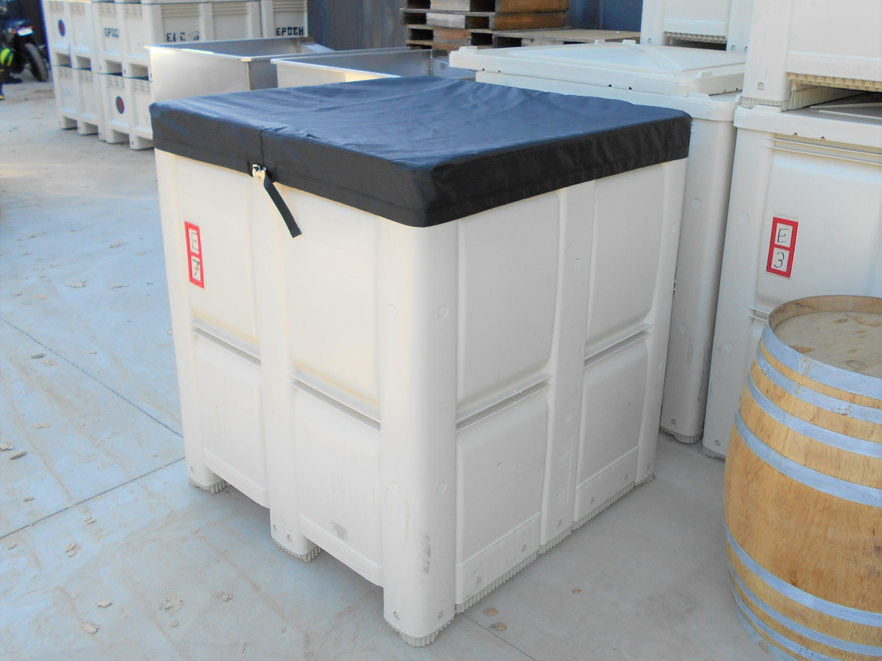 Our Macro Cover open-top fermentation tank cover custom built for your winery's needs by SLO Sail and Canvas in San Luis Obispo California, USA!