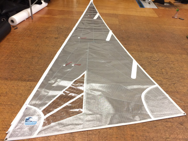 Radial Laminate Jib Sail for Nacra 5.5 UNI by SLO Sail and Canvas. Made in the USA!