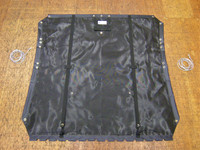 High quality black mesh trampoline to fit Hobie FX One Catamarans with Halyard Pocket.