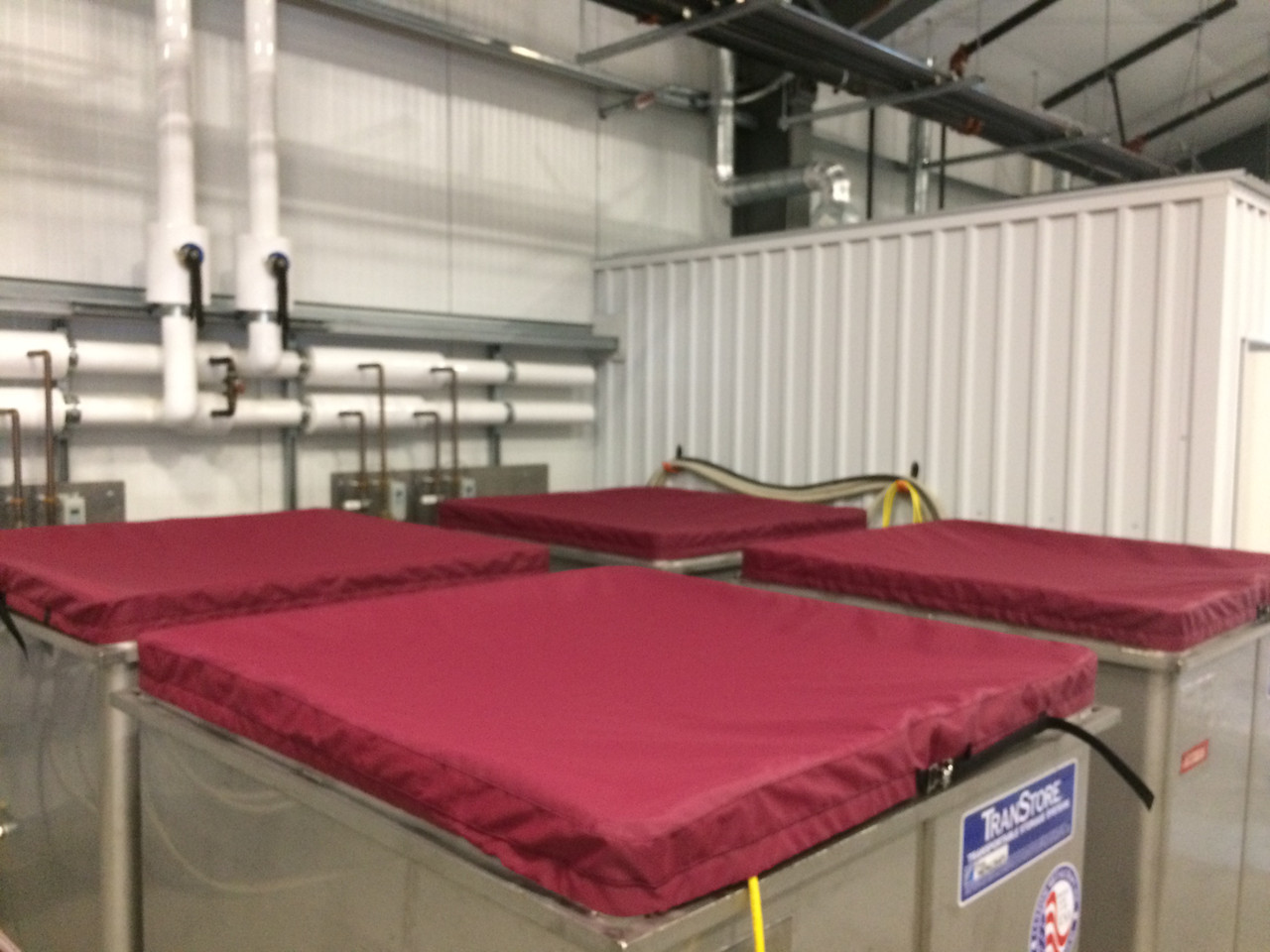 Tank Beret open-top fermentation tank cover custom built for your winery's needs by SLO Sail and Canvas in San Luis Obispo California, USA!