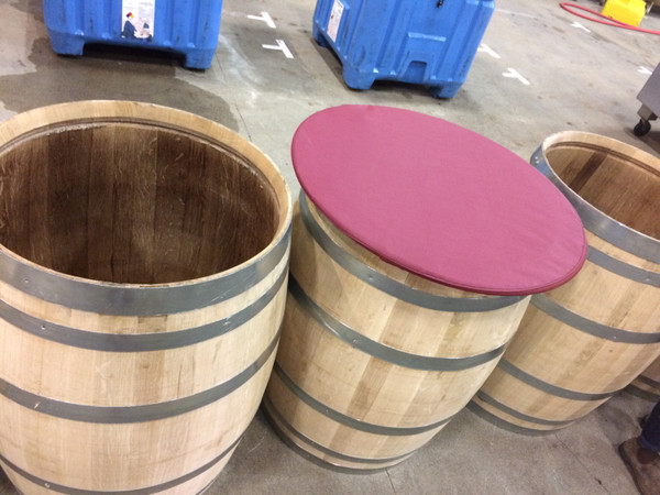 Our Barrel Cover open-top fermentation tank cover custom built for your winery's needs by SLO Sail and Canvas in San Luis Obispo California, USA!