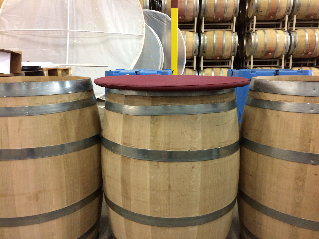 The Barrel Cover by SLO Sail and Canvas keeps dirt and debris out, while allowing gasses to escape.