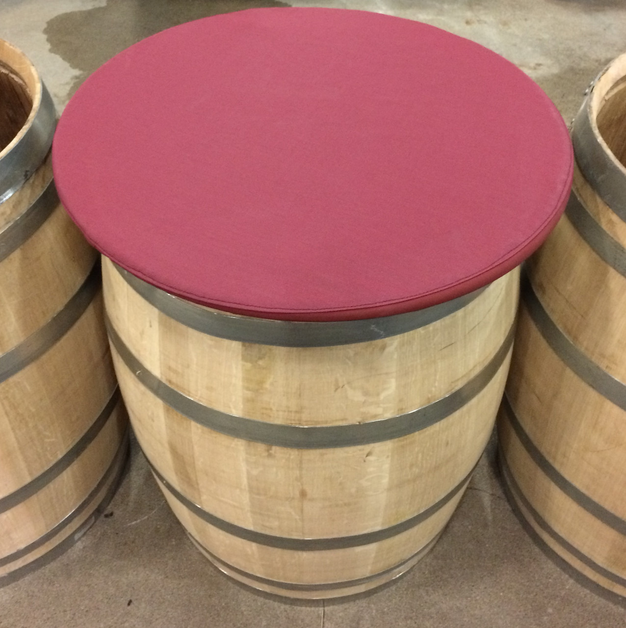 A rigid frame paired with a sewn in elastic strap allows for a tight seal between our Barrel Cover and your wine barrel.