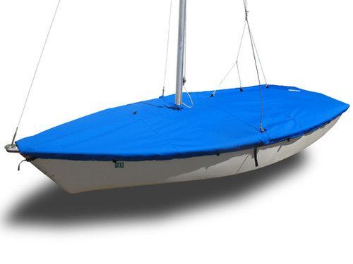 This Hunter 140 Mooring cover is available in 3 fabric, and many color choices. You can add reflective tape and straps to the cover.