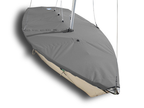 Buy a Mast Up Flat Cover for your Hunter 140 sailboat from SLO Sail and Canvas.