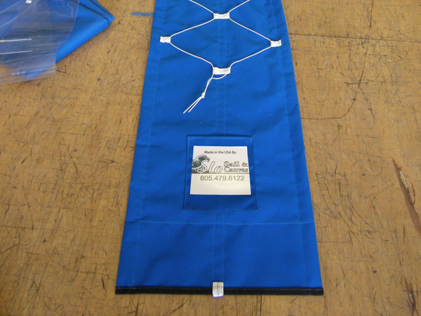 SLO Sail and Canvas Jib Snorkel sail covers are made to order by hand in San Luis Obispo Caifornia USA.