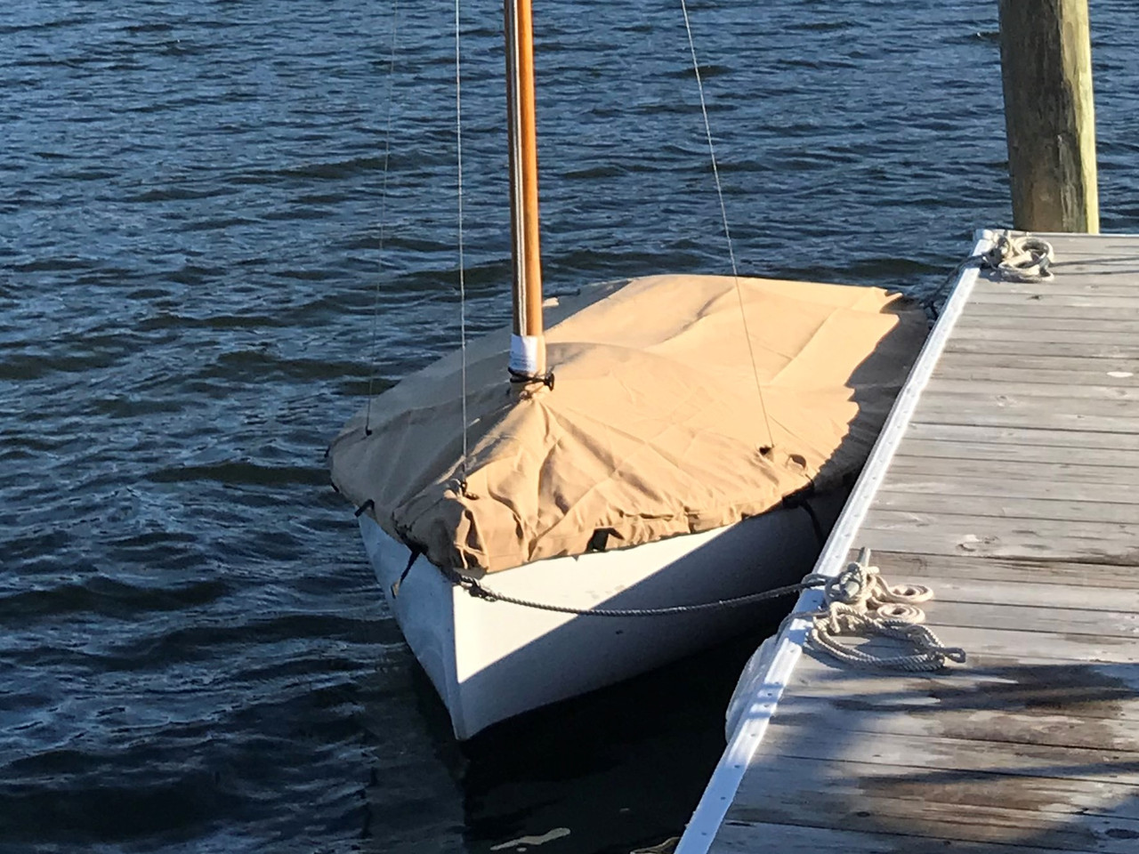 Dyer Dink 10 Mooring Cover by SLO Sail and Canvas.
