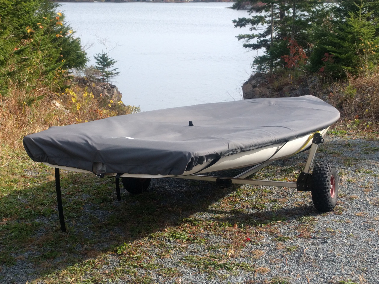 Protect your Bombardier Invitation 3.8 from the elements while on shore or in storage with a long lasting boat cover from SLO Sail and Canvas.