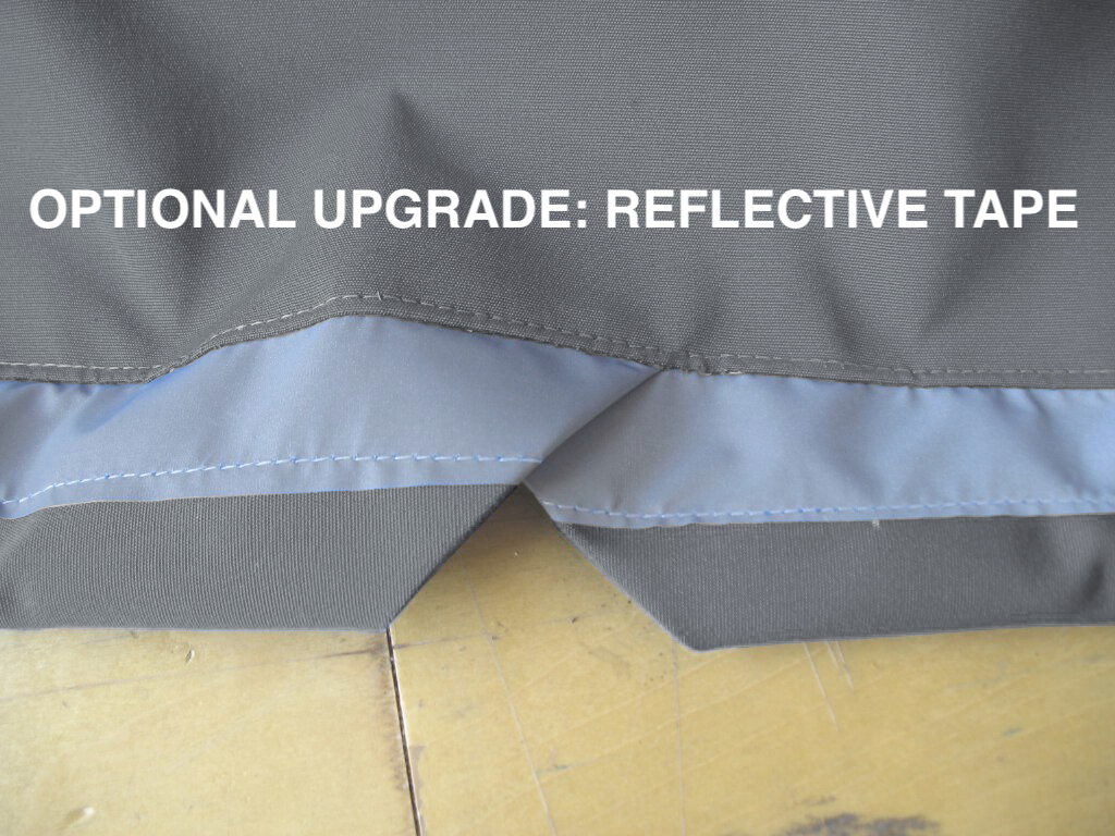 Optional Upgrade: Reflective Tape makes your boat more visible while parked, trailering, or on a mooring.
