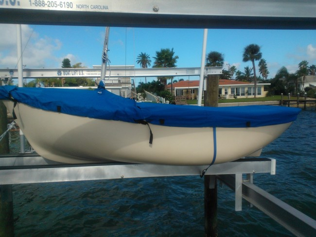Bauer 8 Sailboat Mooring Cover Top Deck Cover Made in the USA Polyester Royal Blue Mast Up Cover