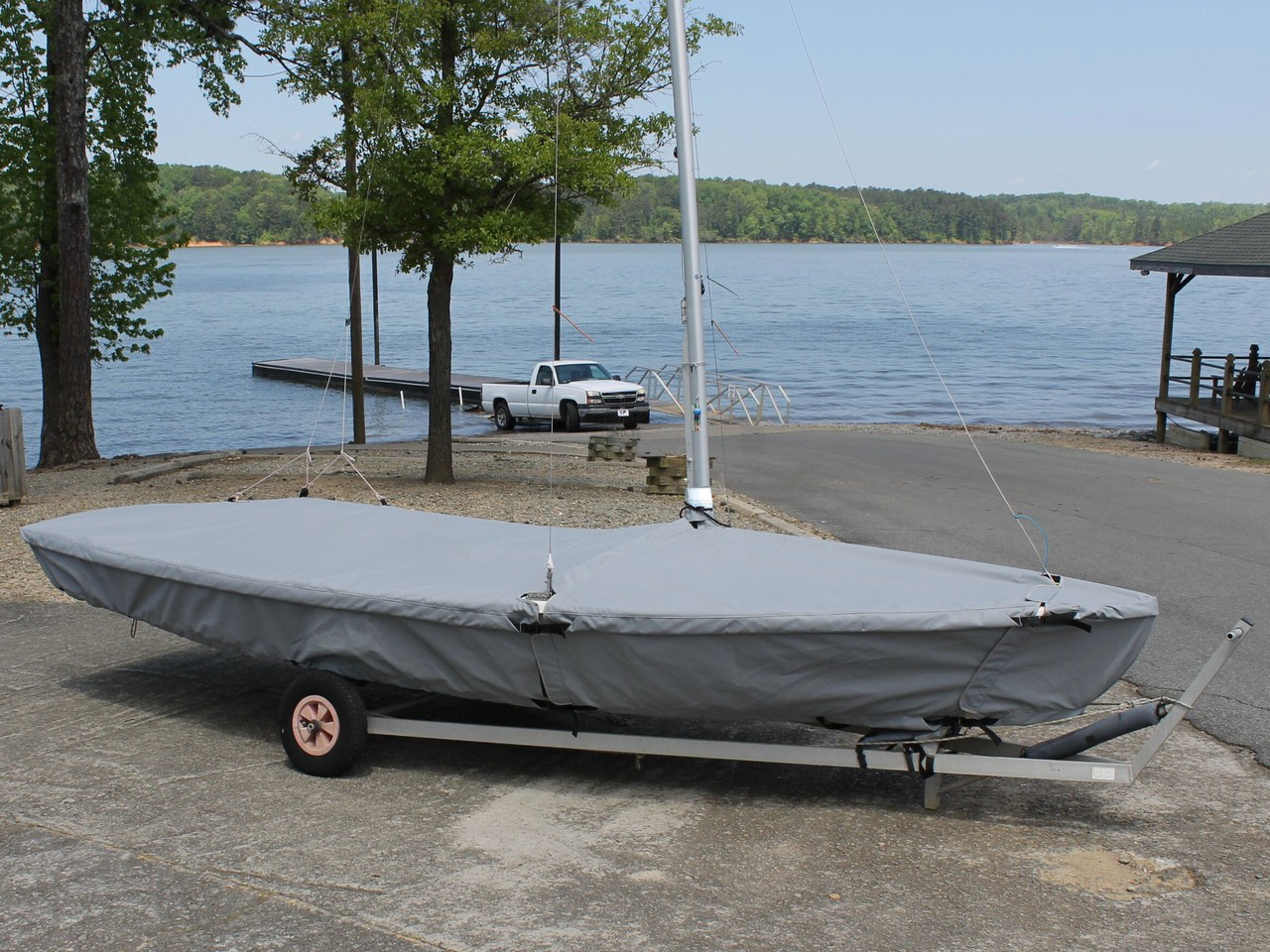 Skirted covers protect your deck, cockpit, and much of your hull.