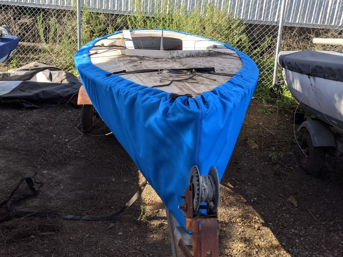 Hull Cover to fit a Finn Sailboat by SLO Sail and Canvas.