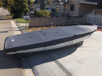 Snark Sunchaser I or II Sailboat Top Cover made in America by skilled artisans at SLO Sail and Canvas.