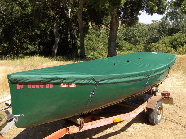 Sailboat Hull Cover made in America by skilled artisans at SLO Sail and Canvas.