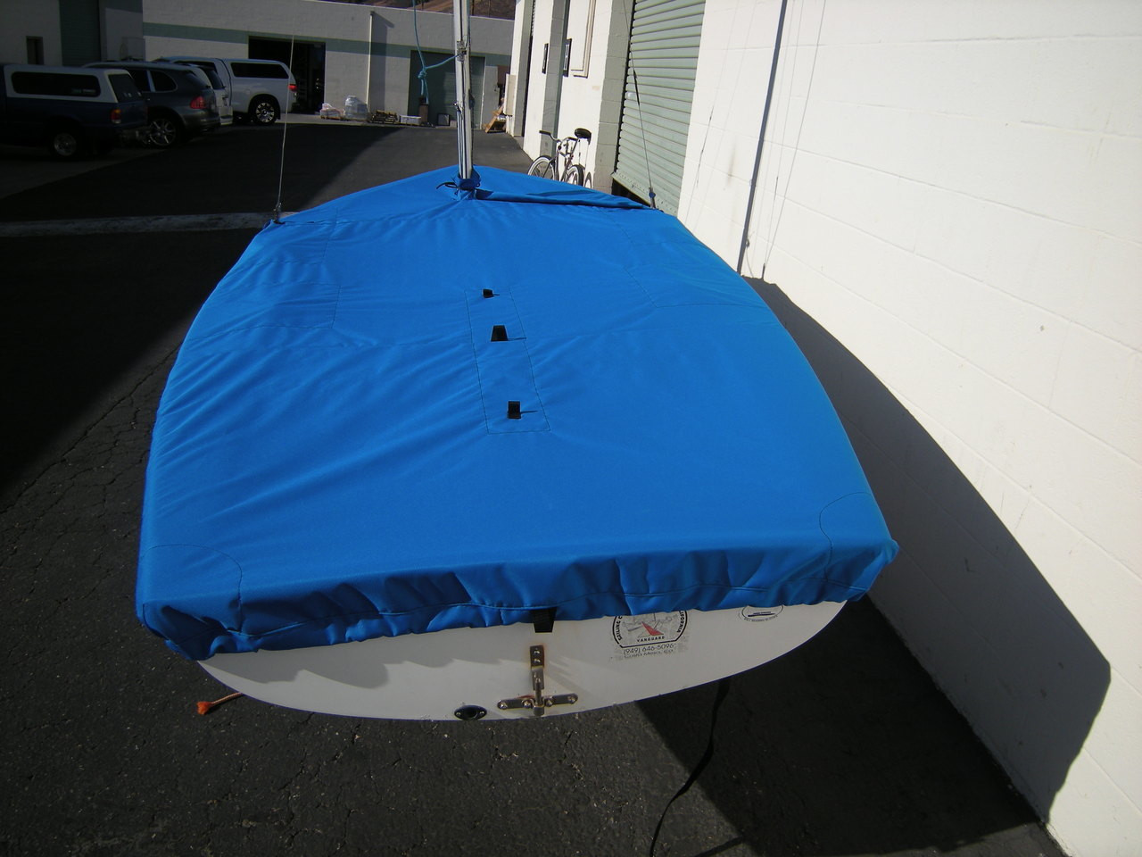 Capri 14 by Schock Mast Up Flat Cover by SLO Sail and Canvas