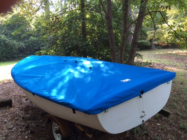 Deck Cover shown in Polyester Royal Blue. Available in 3 fabrics and many color choices.