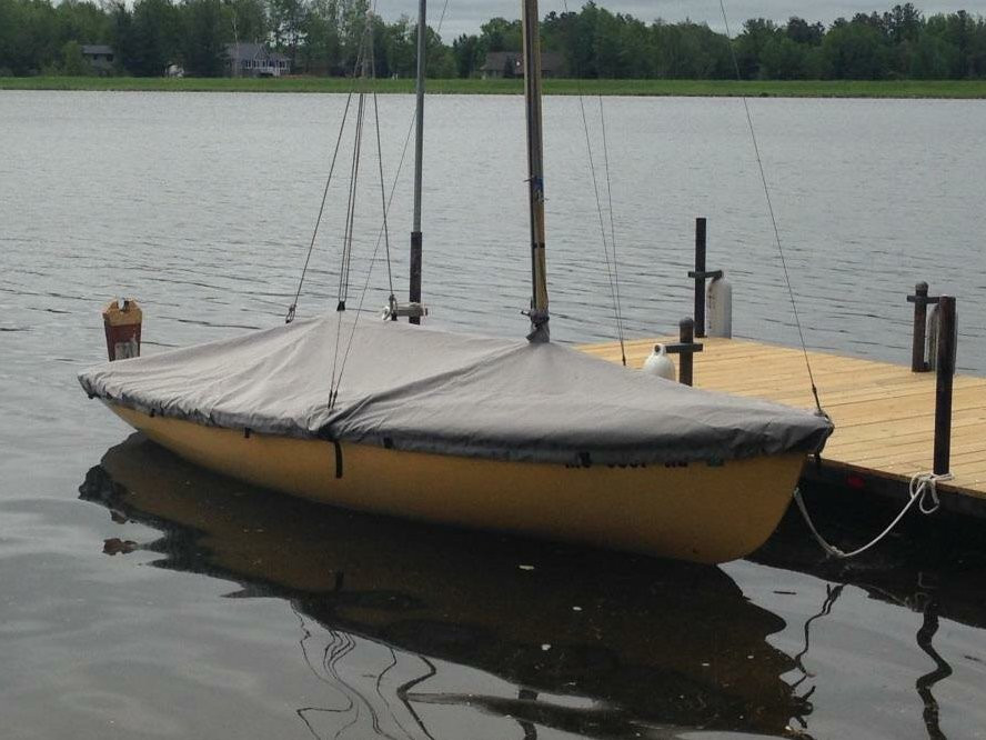 Mooring Cover shown in Polyester Charcoal Gray. Available in 3 fabrics and many color choices.