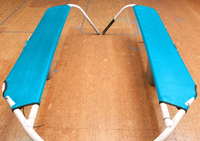 Lace-On Wing Trampoline Set to fit a Hobie® 17 catamaran made in America by skilled artisans at SLO Sail and Canvas.