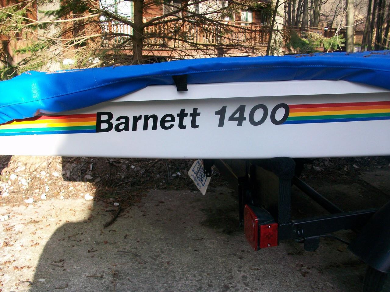 Barnett 1400 Sailboat Deck Cover by SLO Sail and Canvas. Shown in Top Gun Caribbean Blue.